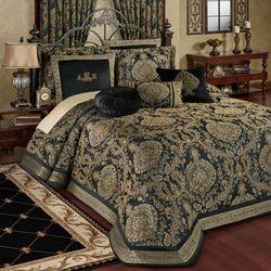 Bellevue Grande Bedspread Black