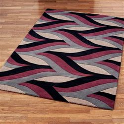 Divergence Rectangle Rug Claret