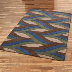 Divergence Rectangle Rug Indigo