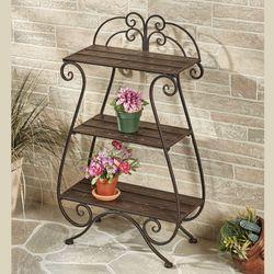 Brooks Garden Display Shelf Bronze Three Tier