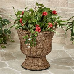 Zostera Flower Pot Vase Brown