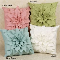 Saras Flower Garden Petal Pillow  17 Square