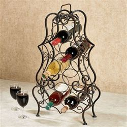 Pisa Metal Wine Rack Bronze