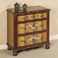 Majestic Marvels Floral Cabinet Natural Cherry