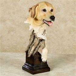 Thankful Pup Sculpture Golden Yellow