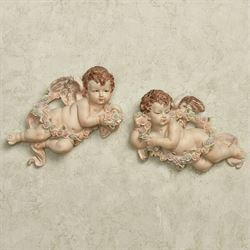 Little Blessings Cherub Wall Accents Vanilla Set of Two