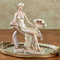 Poised and Passionate Lady Figurine Ivory