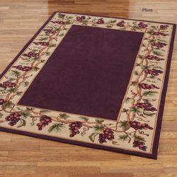 bordeaux border area rug - Kitchen Area Rugs