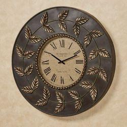 Dixon Leaf Wall Clock Bronze/Gold
