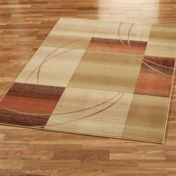 Whimsical Rectangle Rug Antique Gold