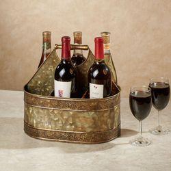 Mavis Wine Bottle Holder Antique Brass