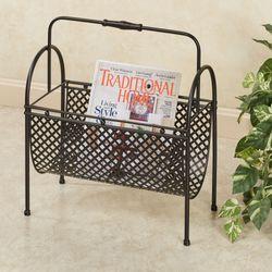 Nolah Magazine Rack Aged Bronze