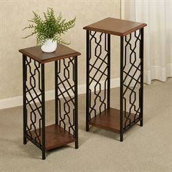 Carter Accent Tables Regal Walnut Set of Two