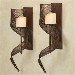 Brescello Metal Wall Sconces Soft Mocha Pair