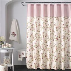 Rosalie Shower Curtain Ivory 70 x 72