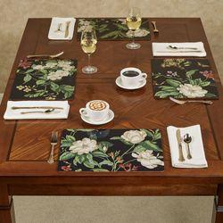 Garden Images Black Hardboard Placemats Set of Four