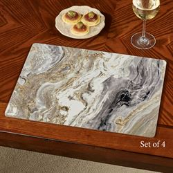 Quartz Hardboard Placemats Multi Cool Set of Four