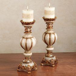 Novella Taupe Candleholder Pair Pair
