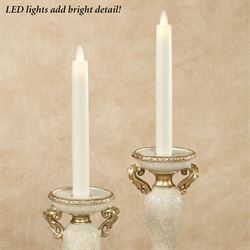 Alexa Flameless Taper Candles Ivory Set of Two
