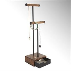 Indra Necklace and Jewelry Holder Walnut