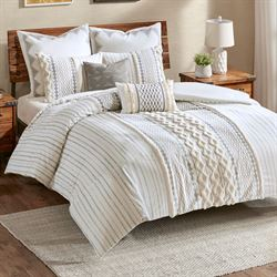 Imani Mini Comforter Set Light Almond