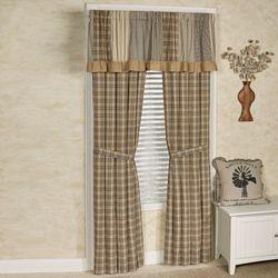 Sawyer Mill Tailored Curtain Pair Multi Warm 80 x 84