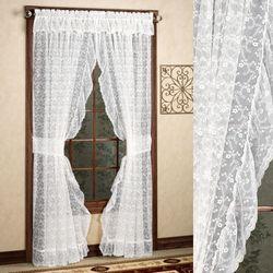 Bridal Lace Ruffled Curtain Pair