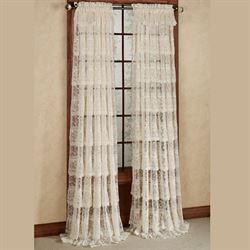 Bridal Lace Layered Curtain Panel