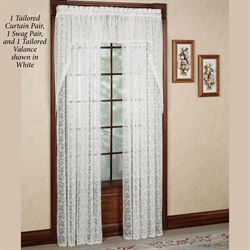 Bridal Lace Wide Tailored Curtain Pair