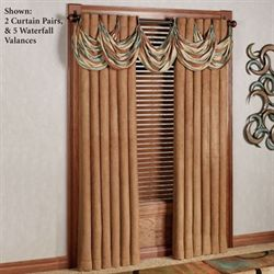 Oasis Waterfall Valance Saddle Brown 28 x 18