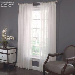 Larvotto Pinch Pleated Curtain Pair