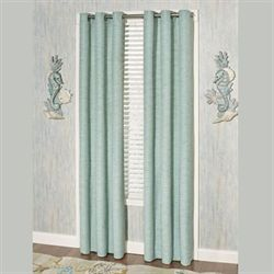 Coastal Dream Solid Grommet Curtain Pair Multi Cool 84 x 84