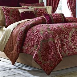 Fuchsia 4 pc Comforter Set Light Chocolate