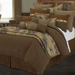Crestwood Comforter Bed Set Saddle Brown