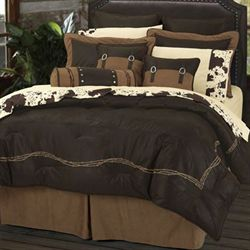 Barbwire Comforter Bed Set Chocolate