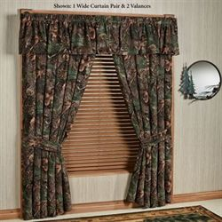 Mixed Pine Wide Curtain Pair Multi Warm 100 x 84