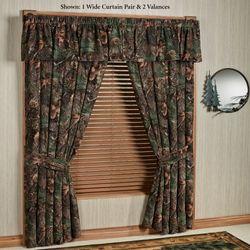 Mixed Pine Wide Curtain Pair Multi Warm 100 x 84