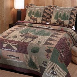 Moose Lodge Quilt Set Multi Warm
