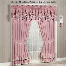 Memories Scalloped Valance Blush 72 x 20