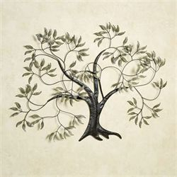 Willow Tree In The Wind Metal Wall Art