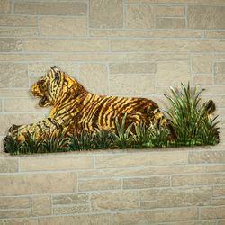 Jungle Watch Tiger Wall Sculpture