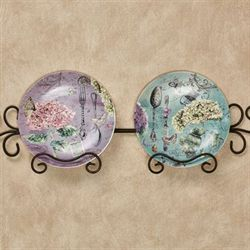 Emmaline Floral Dessert Plates Multi Pastel Set of Two