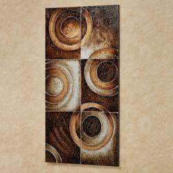 Profusion Abstract Canvas Wall Art Multi Metallic