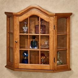 Ayden Wooden Wall Curio Cabinet Windsor Oak