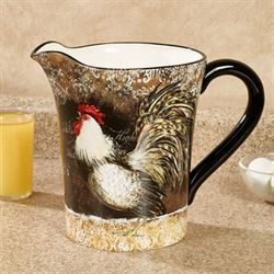 Vintage Rooster Beverage Pitcher Multi Earth