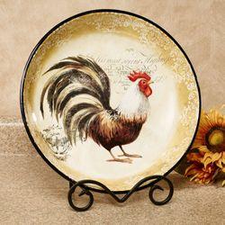 Vintage Rooster Large Serving Bowl Multi Earth