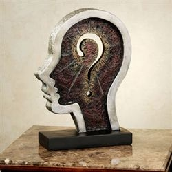 Human Thought Table Sculpture Multi Metallic