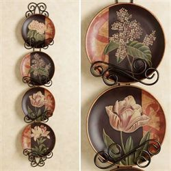 Spring Blooms Plate Set  Set of Four