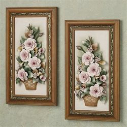 Cameron Floral Wall Plaque Set