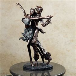 La Samba Dancing Table Sculpture Dark Bronze